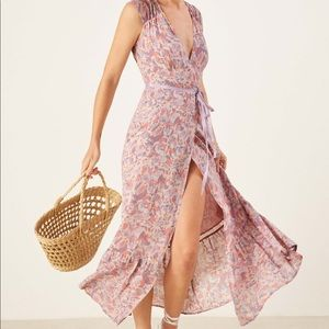 Reformation Haven Wrap Maxi Floral Dress